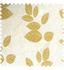 Yellowish green grey color natural floral pattern leaves texture flowing hanging leaf with polyester thick background main curtain