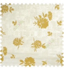 Yellowish green grey color beautiful flower designs texture surface floral buds with thick polyester background main curtain