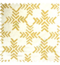 Yellowish green white color geometric square shapes sharp edge angles texture embroidery patterns move forward backward  up and down arrows  with transparent fabric main curtain