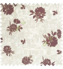 Purple grey brown color beautiful flower designs texture surface floral buds with thick polyester background main curtain