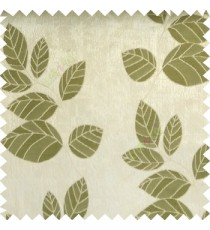 Green grey color natural floral pattern leaves texture flowing hanging leaf with polyester thick background main curtain
