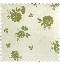 Green grey color beautiful flower designs texture surface floral buds with thick polyester background main curtain
