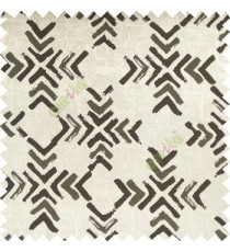Black grey color geometric square shapes sharp edge angles texture embroidery patterns move forward backward  up and down arrows  with transparent fabric main curtain