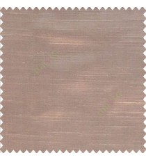 Solid plain brown color horizontal lines thick and shiny poly fabric silk finished main curtain