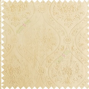 Beige color Traditional damask design texture finished embossed patterns clear design polka dots swirls flower horizontal lines  polyester main curtain fabric