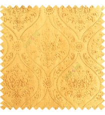 Gold color Traditional damask design texture finished embossed patterns clear design polka dots swirls flower horizontal lines  polyester main curtain fabric