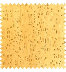 Gold color texture finished embossed designs stones and gravels small dots rain drops horizontal lines  polyester main curtain fabric