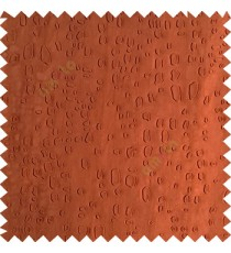 Dark copper brown color texture finished embossed designs stones and gravels small dots rain drops horizontal lines  polyester main curtain fabric