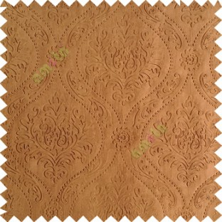 Dark brown color Traditional damask design texture finished embossed patterns clear design polka dots swirls flower horizontal lines  polyester main curtain fabric
