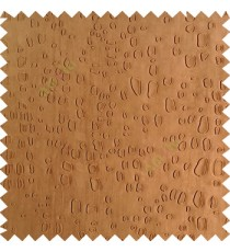 Dark brown color texture finished embossed designs stones and gravels small dots rain drops horizontal lines  polyester main curtain fabric