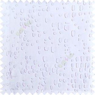Pure white color texture finished embossed designs stones and gravels small dots rain drops horizontal lines  polyester main curtain fabric