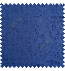 Royal blue color texture finished embossed designs stones and gravels small dots rain drops horizontal lines  polyester main curtain fabric