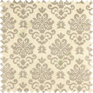 Cream Brown Color Beautiful Traditional Damask Design Complete