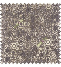 Beige dark blue color traditional designs hexagon honeycomb texture small dots flower small leaf sofa fabric