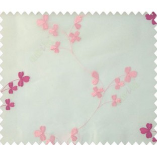 Pink cream color flower pattern beautiful traditional floral desings polyster sheer curtain