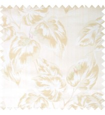 Beige color beautiful floral leaf pattern texture background polyester fabric base main curtain