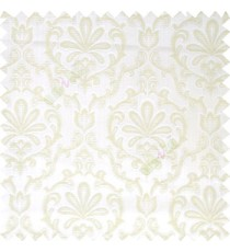 Beige color traditional design complete texture pattern floral leaf swirls with polyester thick fabric main curtain