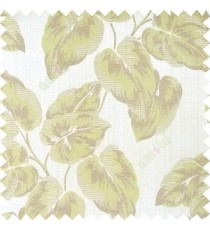 Green grey brown color beautiful floral leaf pattern texture background polyester fabric base main curtain