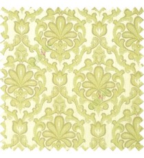Green grey brown color traditional design complete texture pattern floral leaf swirls with polyester thick fabric main curtain