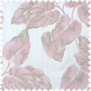 Pink grey color beautiful floral leaf pattern texture background polyester fabric base main curtain