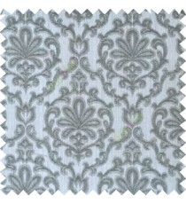 Black grey color traditional design complete texture pattern floral leaf swirls with polyester thick fabric main curtain