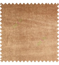 Tawny brown color complete plain designless velvet finished chenille soft background main curtain