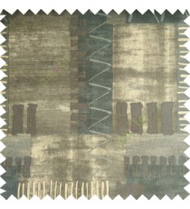 Black brown grey color horizontal thin stripes bold vertical zigzag patterns velvet finished base fabric main curtain