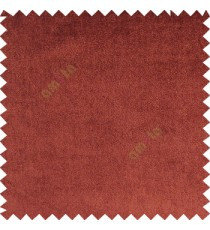 Sienna brown color complete plain designless velvet finished chenille soft background main curtain