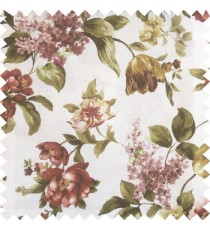 Dark green purple white color beautiful rose flower big leaves with texture finished polyester base fabric main curtain