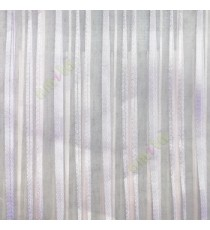 Purple vertical pencil stripes shiny surface small dots texture finished sheer fabric