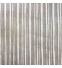 Light brown vertical pencil stripes shiny surface small dots texture finished sheer fabric