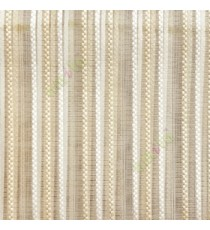 Beige white color vertical digital dots stripes with transparent net fabric horizontal thin lines sheer curtain
