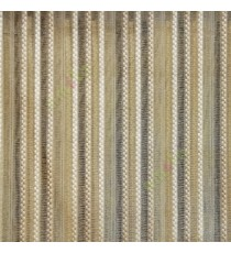 Gold beige color vertical digital dots stripes with transparent net fabric horizontal thin lines sheer curtain