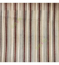 Dark brown beige gold color vertical digital dots stripes with transparent net fabric horizontal thin lines sheer curtain