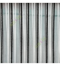 Black white color vertical digital dots stripes with transparent net fabric horizontal thin lines sheer curtain