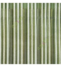 Green beige white color vertical digital dots stripes with transparent net fabric horizontal thin lines sheer curtain
