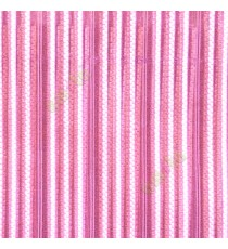 Pink white beige color vertical digital dots stripes with transparent net fabric horizontal thin lines sheer curtain