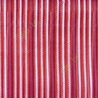 Maroon beige color vertical digital dots stripes with transparent net fabric horizontal thin lines sheer curtain