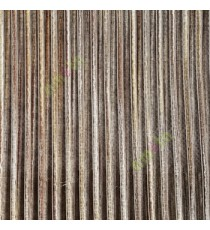 Dark brown gold black color vertical chenille stripes horizontal lines busy lines sheer fabric