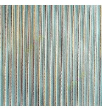 Blue brown gold color vertical chenille stripes horizontal lines busy lines sheer fabric