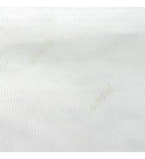 Pure white color vertical thin stripes texture finished transparent net finished soft feel lightweight sheer fabric