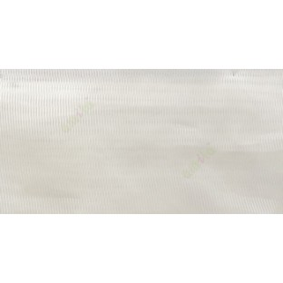Cream color vertical thin stripes texture finished transparent net finished soft feel lightweight sheer fabric