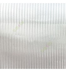 Pure white color vertical stripes texture thin lines transparent net finished sheer curtain