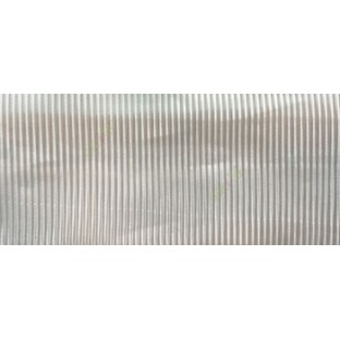 Cream color vertical stripes texture thin lines transparent net finished sheer curtain