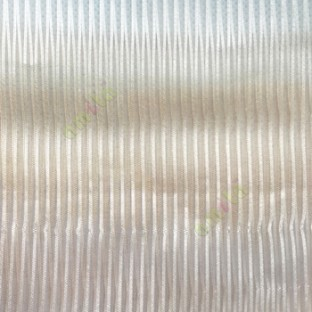 Beige color vertical stripes texture thin lines transparent net finished sheer curtain