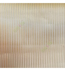 Gold color vertical stripes texture thin lines transparent net finished sheer curtain