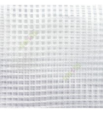 Pure white vertical and horizontal stripes checks pattern transparent net finished surface sheer curtain