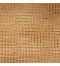 Copper brown vertical and horizontal stripes checks pattern transparent net finished surface sheer curtain