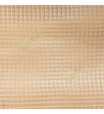 Gold vertical and horizontal stripes checks pattern transparent net finished surface sheer curtain