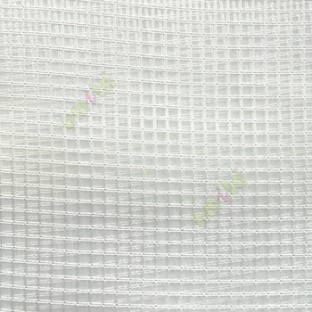 Green vertical and horizontal stripes checks pattern transparent net finished surface sheer curtain